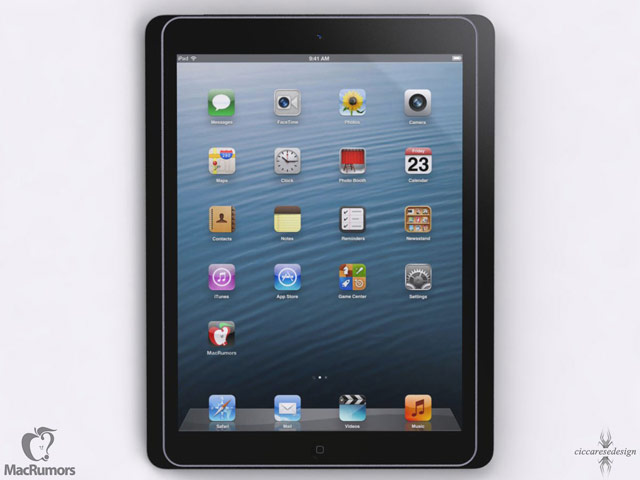 Concept de la future tablette iPad 5