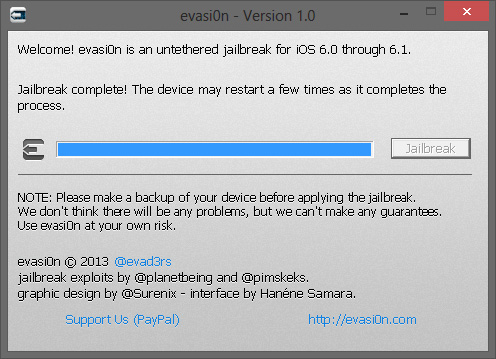 Redémarrage iDevice Apple iOS 6.x jailbreaké