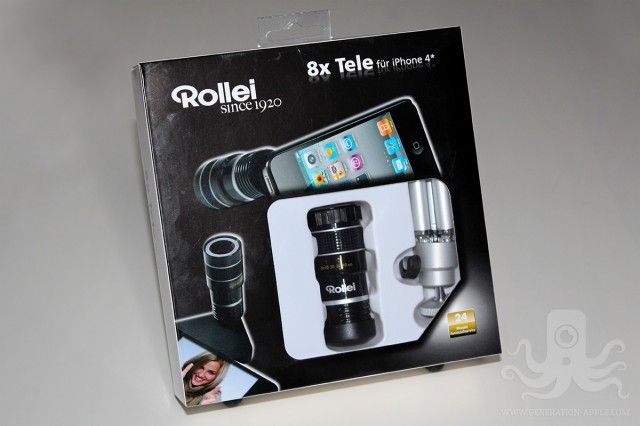 Packaging Rollei 8x Tele pour iPhone 4/4S