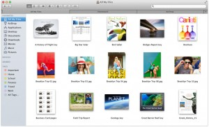 Mac OS X Mavericks : onglets du Finder